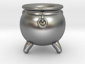 Cauldron miniature in Natural Silver