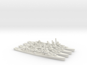 US Fletcher-class Destroyer (x4) in White Natural Versatile Plastic