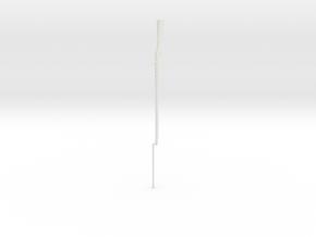 1:12 Miniature Berdan Rifle No 2 in White Natural Versatile Plastic: 1:12