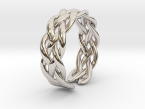 Celtic ring knot in Rhodium Plated Brass