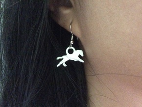 Running Horse Earrings in White Strong & Flexible