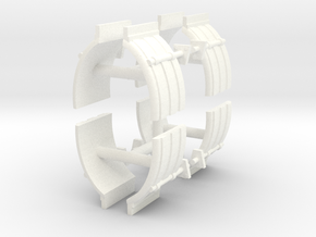 1/50th Truck Quarter Fenders ribbed, 4 sets in White Processed Versatile Plastic