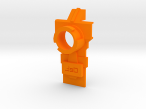 Modulus Muzzle Attachment Plate for Nerf Kronos in Orange Processed Versatile Plastic