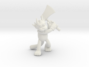 Simpsons Scratchy 1/60 miniature for games and rpg in White Natural Versatile Plastic