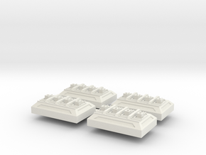 Weapon Battery V1 x 4 in White Natural Versatile Plastic