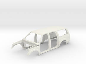 Body shell 1/10 Ford Excursion RC body  in White Natural Versatile Plastic