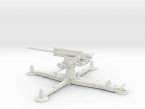 1/72 IJA Type 4 75mm Anti-aircraft Gun in White Natural Versatile Plastic