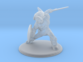 Link Attack Stance 1/60 miniature for games rpg in Smooth Fine Detail Plastic