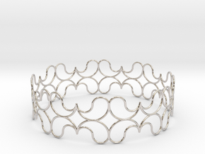 Bracelet in Rhodium Plated Brass