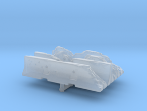 Damaged Jersey barrier (x4) 1/43 in Smooth Fine Detail Plastic