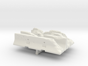 Damaged Jersey barrier (x4) 1/200 in White Natural Versatile Plastic