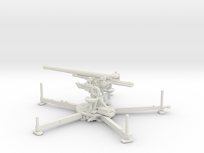 1/87 IJA Type 88 75mm anti-aircraft gun in White Natural Versatile Plastic