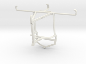 Controller mount for PS4 & vivo S1 Pro - Top in White Natural Versatile Plastic