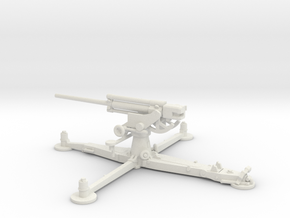 1/87 IJA Type 4 75mm Anti-aircraft Gun in White Natural Versatile Plastic