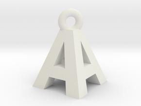 AA Pendant top in White Natural Versatile Plastic