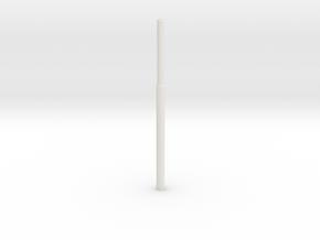 1:22,5 1556 Bovenleidingmast getrapt NL (zelfbouw) in White Natural Versatile Plastic