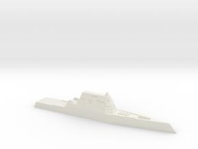 CG(X) w/ Zumwalt hull, 1/2400 in White Natural Versatile Plastic