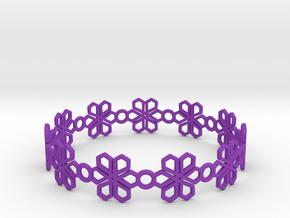 Bracelet in Purple Processed Versatile Plastic