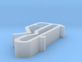 Blind Valance Clip 67 in Smooth Fine Detail Plastic