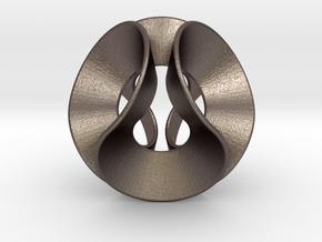 Lobke (Medium) in Polished Bronzed Silver Steel
