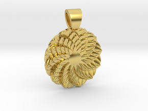 Succulent  [pendant] in Polished Brass