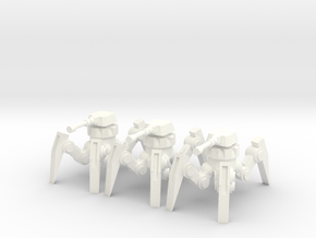 6mm - Cannon Spider Bot in White Processed Versatile Plastic