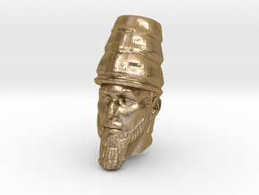 Daniel 2 Statue - Babylonian Head of Gold in Polished Gold Steel