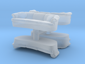Sofa (4 pieces) 1/56 in Smooth Fine Detail Plastic