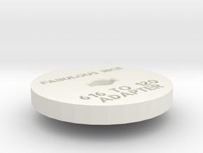 616 to 120 Film Adapter in White Natural Versatile Plastic