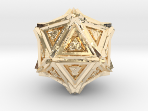 Dice: D20 edition 3 in 14K Yellow Gold