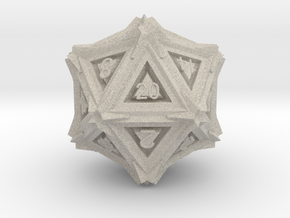 Dice: D20 edition 3 in Natural Sandstone
