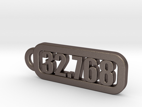 Keyring  of 32.768 kHz in Polished Bronzed-Silver Steel
