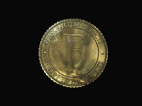Respect Coin in Polished Brass