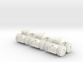 6mm - Dune Assault Buggy in White Processed Versatile Plastic
