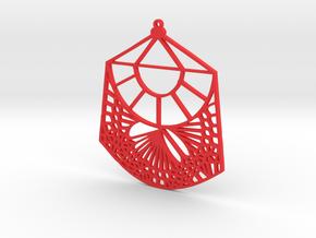 Fawn Qiu Voronoi Pattern (001d) in Red Processed Versatile Plastic