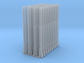 1:87 1587 BVL-mast met NIR NIK sokkel dubbel (40x) in Smooth Fine Detail Plastic