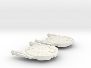 3788 Scale Andromedan Cobra Destroyers (2) SRZ in White Natural Versatile Plastic
