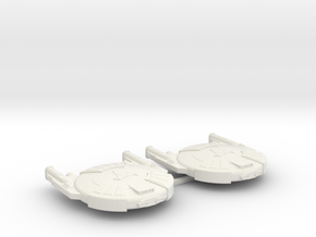 3125 Scale Andromedan Cobra Destroyers (2) SRZ in White Natural Versatile Plastic
