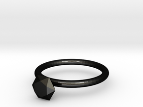 diamond ring in Matte Black Steel
