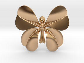 LuckyCloverButterfly in Polished Bronze