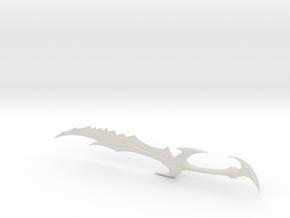 Miniature Daedric Sword - Skyrim Elder Scroll in White Natural Versatile Plastic