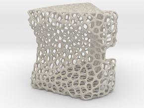 Lattice Structured Phone Stand in Natural Sandstone