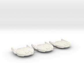 3125 Scale Andromedan Cobra Destroyers (3) SRZ in White Natural Versatile Plastic