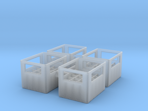 Bottle Crate (4 pieces) 1/48 in Smooth Fine Detail Plastic