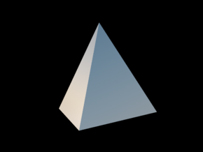 Tetrahedron in Fine Detail Polished Silver