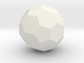 Icosahedron-Hex (Soccer Ball) in White Natural Versatile Plastic