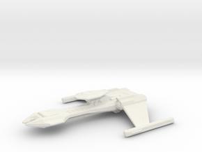 Klingon Gor Class Battle Cruiser in White Natural Versatile Plastic