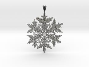 Wilson Bentley Snowflake Crystal Pendant in Antique Silver