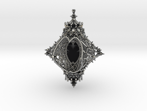 Ornament of the Angelic Spirit [customizable] in Antique Silver