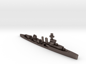 HMS Curlew 1939 1:2400 WW2 cruiser in Polished Bronzed-Silver Steel
